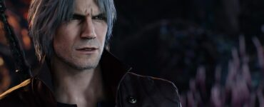 A screenshot of Dante, the protagonist of the Devil May Cry video game series